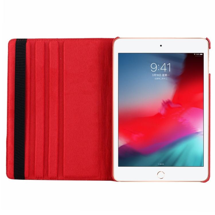 Кожаный Чехол 360 Degree Litchi Texture для iPad Mini 5 (2019)/ Mini 4 -фиолетовый