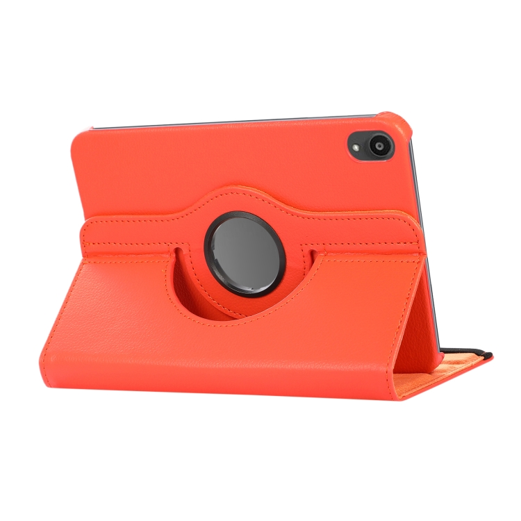 Чехол-книжка 360 Degree Rotation Litchi для Айпад мини 6 - оранжевый