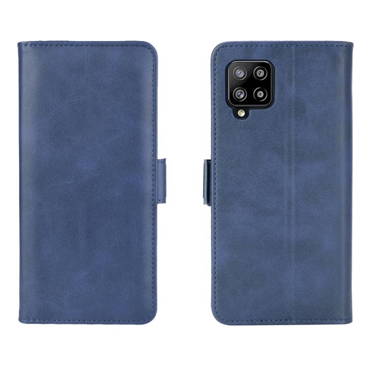 Чехол-книжка Dual-side Magnetic Buckle для Samsung Galaxy A42 - синий