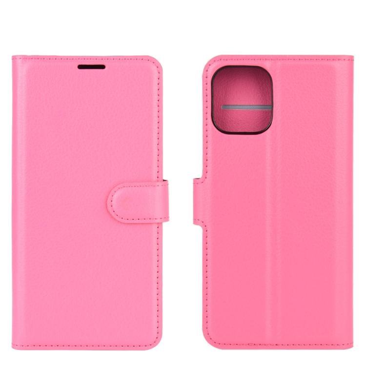 Чехол-книжка пурпурно-красного цвета на iPhone 12/12 Pro