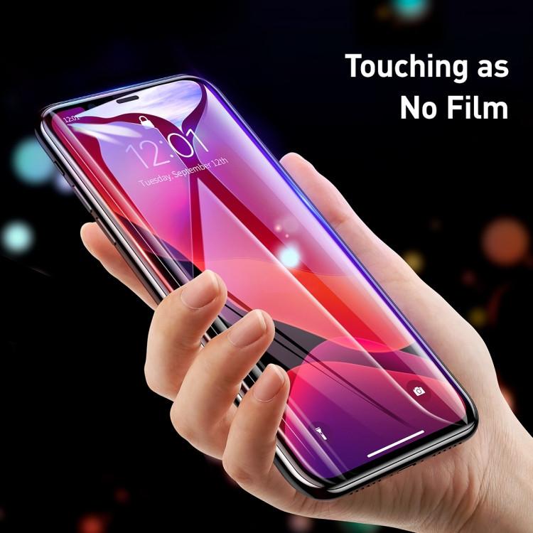 Чисто белое защитное стекло 3д на Айфон 11 Про