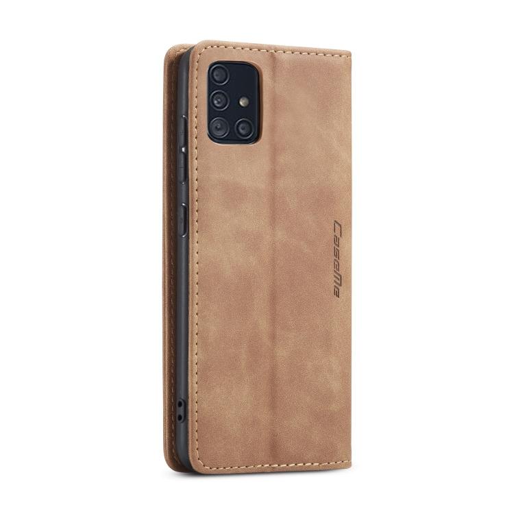 Чехол- книжка CaseMe 013 Series на Samsung Galaxy A51 - коричневый