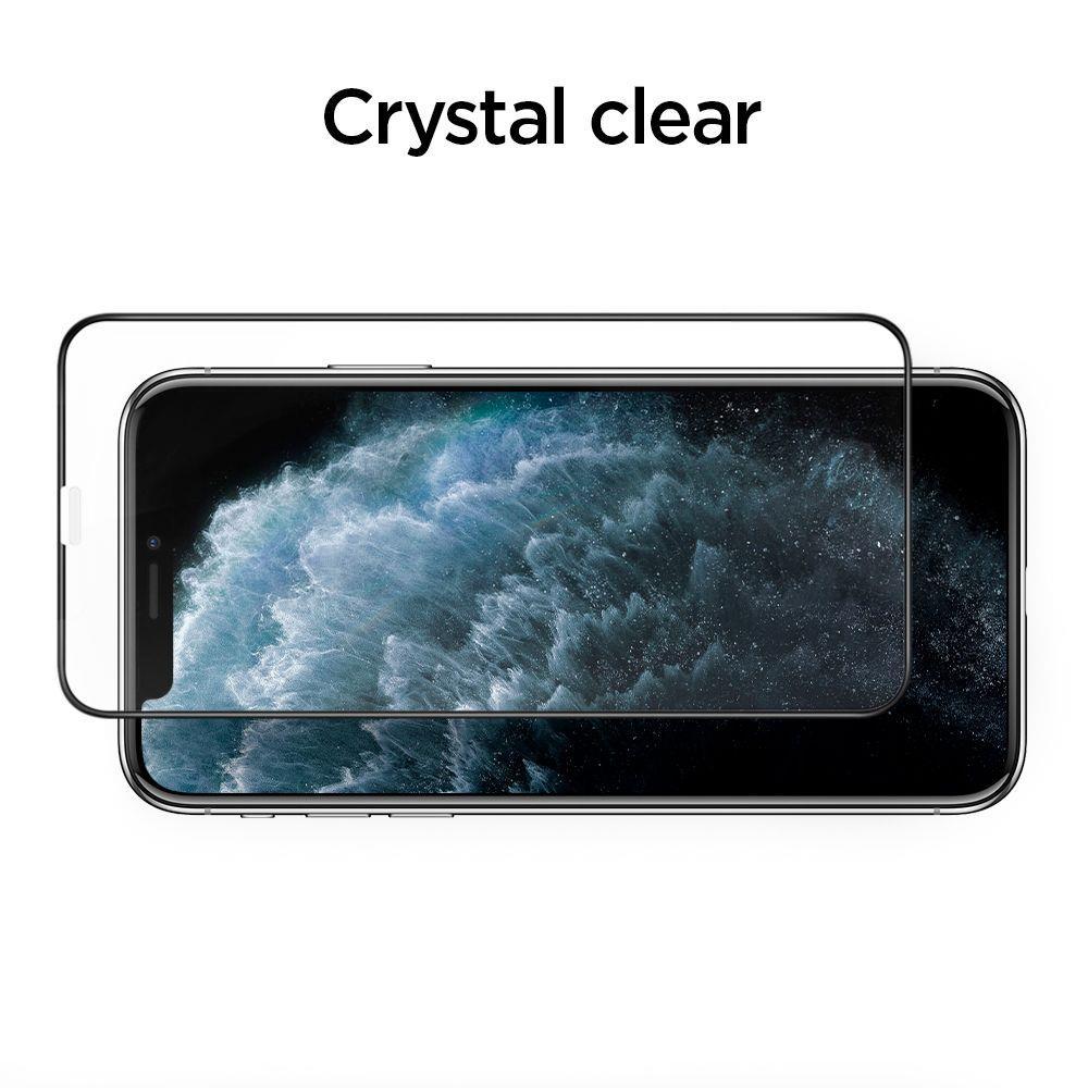 Стекло защитное с черной рамкой для Айфон 11 Про Макс