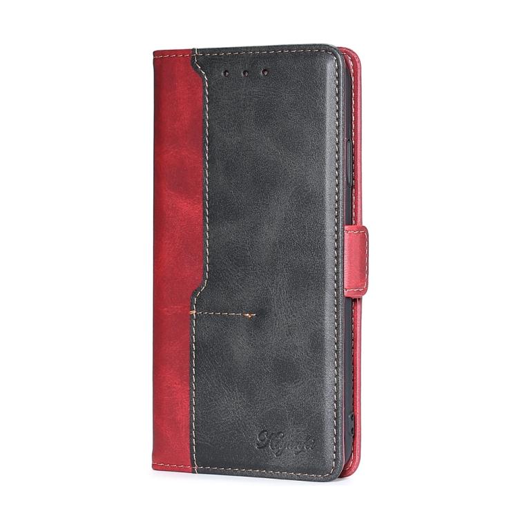 Чехол-книжка Contrast Retro Texture на iPhone XS Max - красный