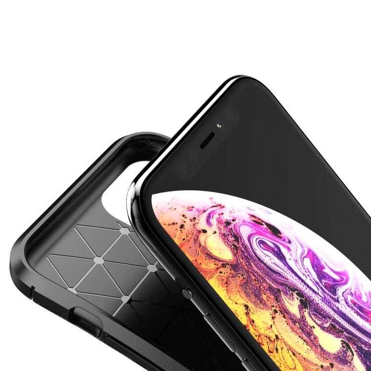 Карбоновый чехол Carbon Fiber Texture на iPhone для 11 Pro- черный