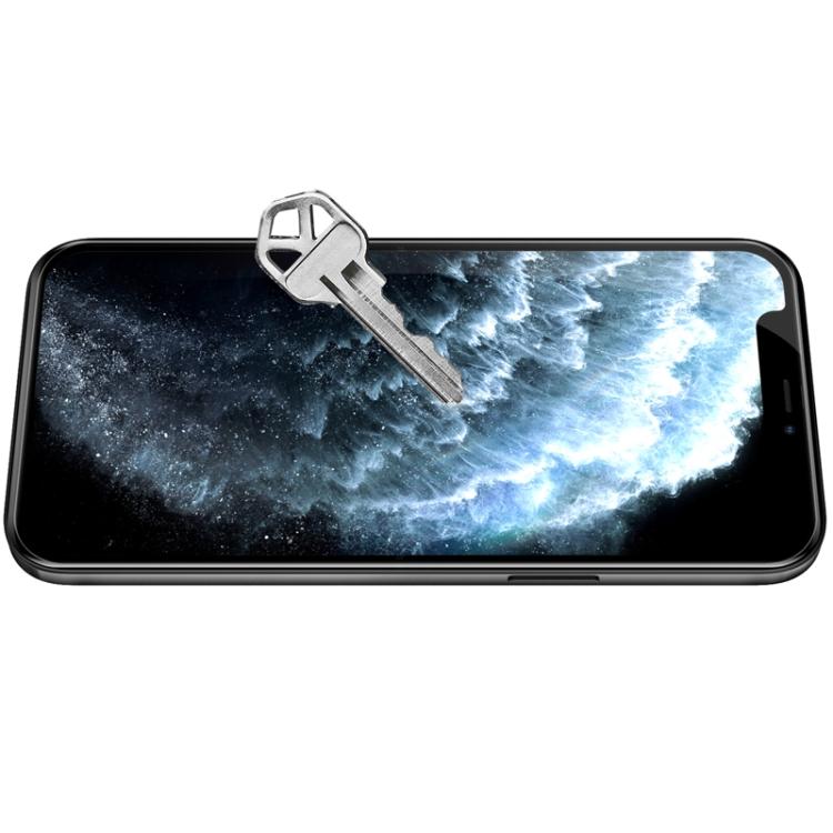 Защитное стекло Nillkin (CP+PRO) для Айфон 12 Про Макс - черное