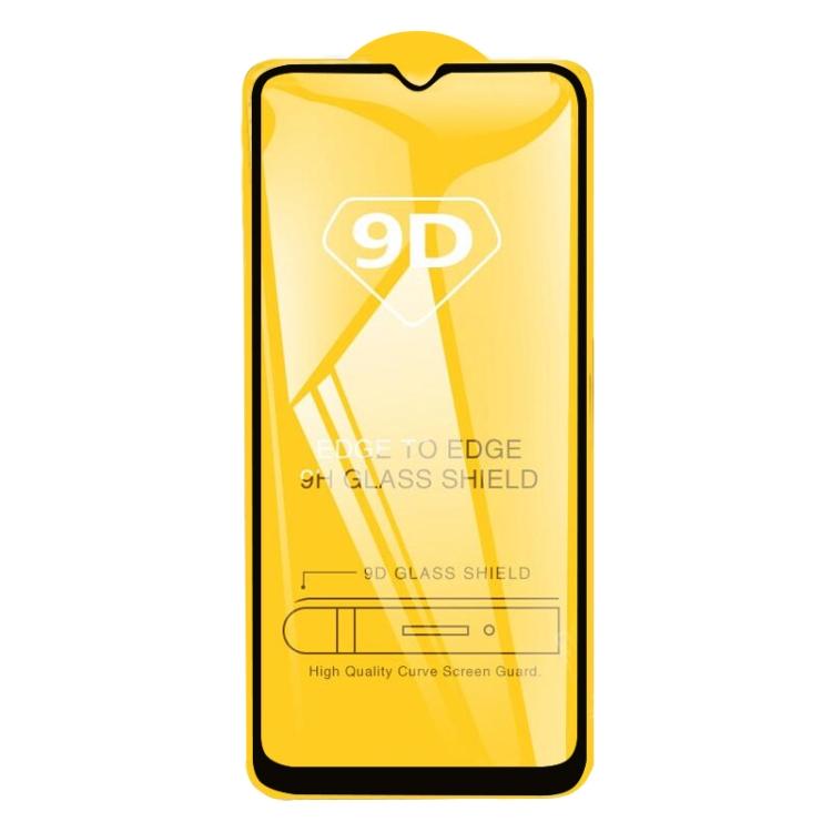 Защитное Стекло 9D Full Glue на весь экран на Realme C11 - черный