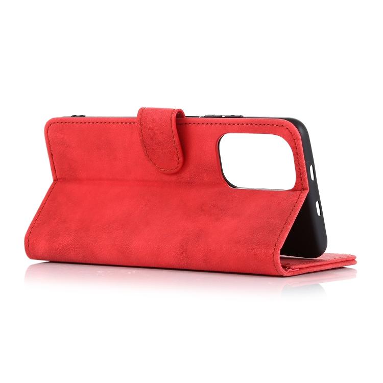 Кожаный чехол-кошелек подставка Redmi Note 10 Pro красный