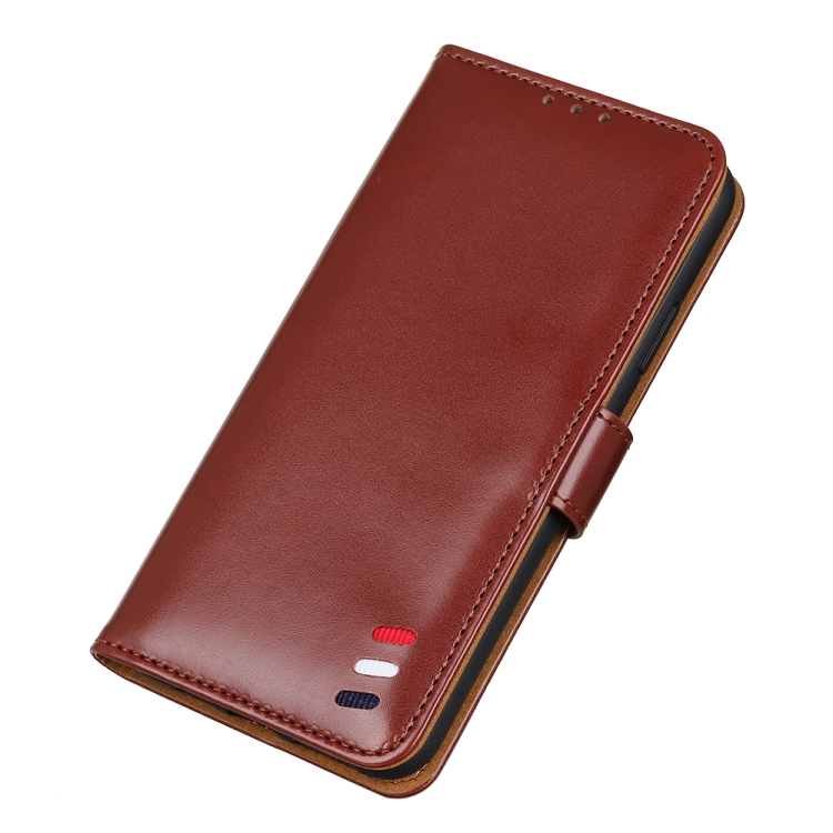Кожаный чехол-книжка с магнитной застежкой для Самсунг Галакси А52 коричневый