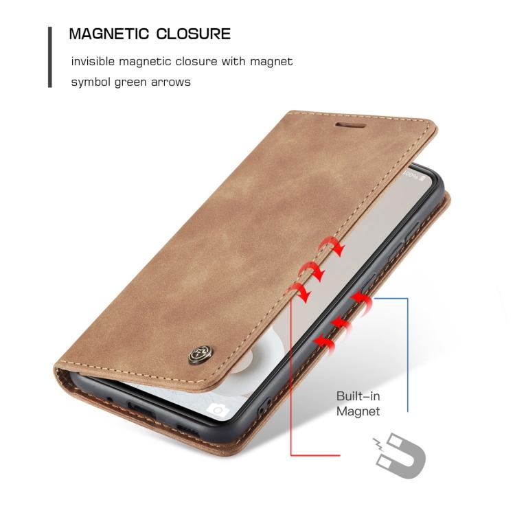 Коричневый чехол-книжка магнитный на Самсунг Гелекси С20 ФЕ