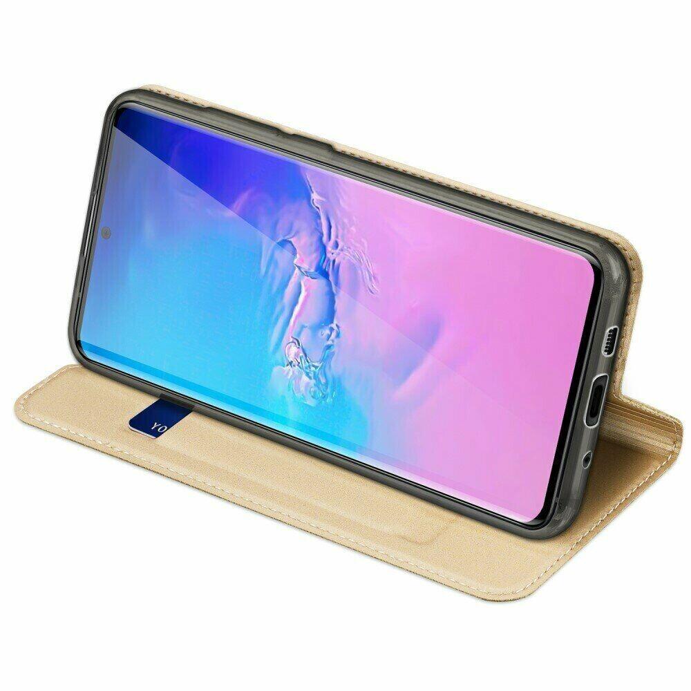 Золотой чехол-книжка со слотами  DUCIS  для Samsung Galaxy S20 Ultra