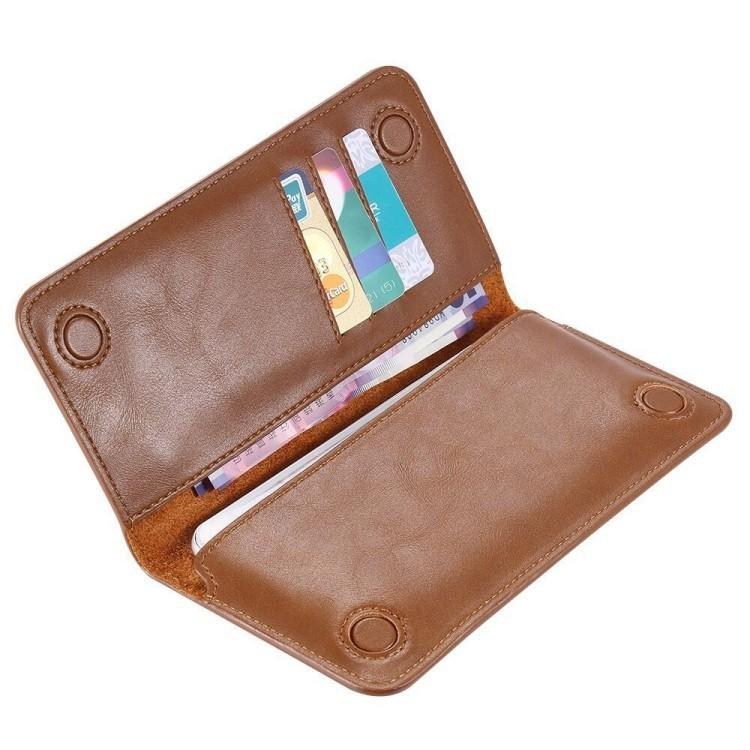Кожаный универсальный чехол -книжка FLOVEME на iPhone 7Plus/ Samsung / Huawei / Xiaomi / на экран 5.5 (Coffee)