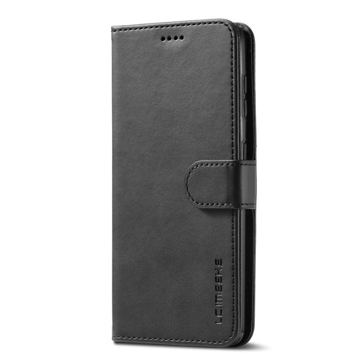 Черный кожаный чехол-книжка для Самсунг Гелекси С21 Плюс