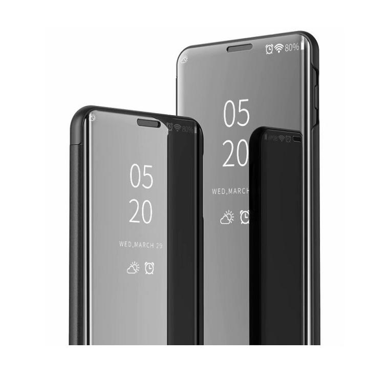 Чехол книжка Clear View на Samsung Galaxy A11/M11 Electroplating Mirror-серебристый