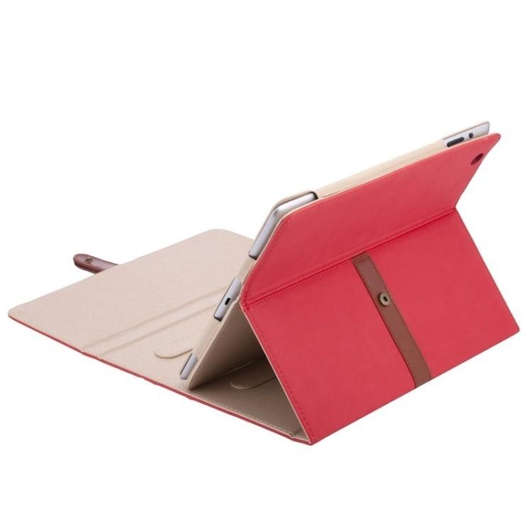Кожаный чехол Bussiness Style на Айпад4 / New Айпад/ Айпад 2 красный