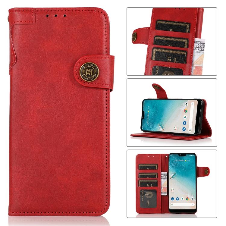 Чехол-книжка KHAZNEH Dual-Splicing для Xiaomi Mi 11 Lite 4G / 5G - красный