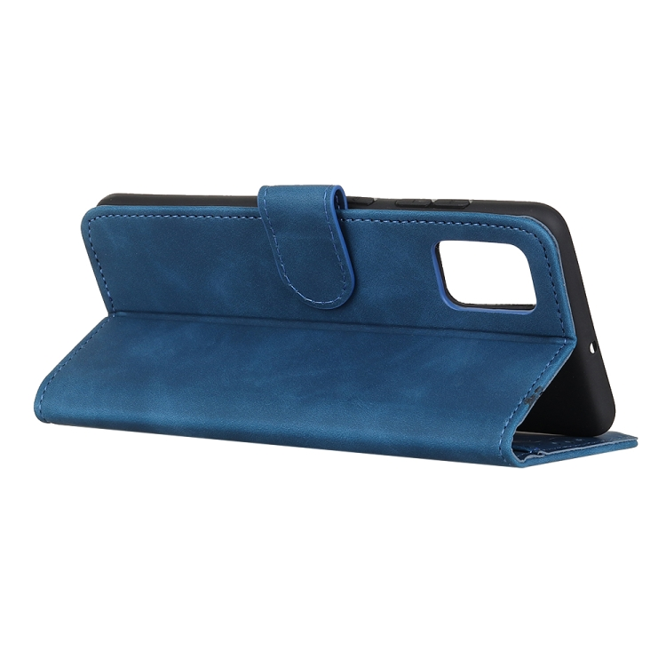 Синий чехол с подставкой и слотами под кредитки на Самсунг Гелекси М31с