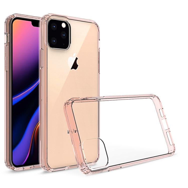 Розовый прозрачный чехол накладка на Айфон 11 Про Макс