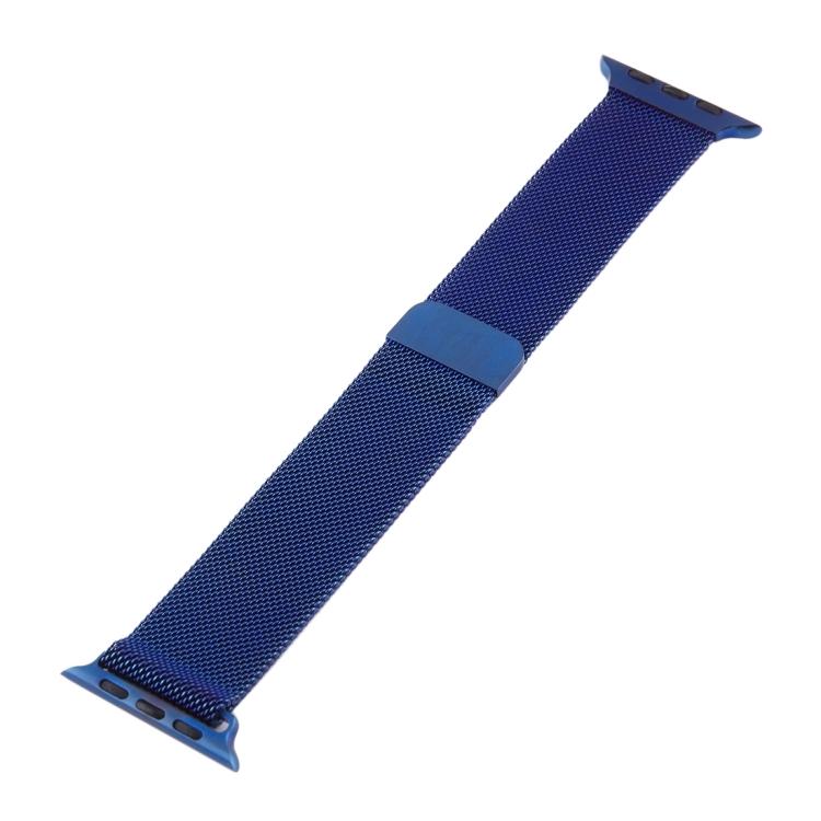 Браслет из нержавеющей стали Milanese Loop Magnetic для Apple Watch 42/44mm - синий