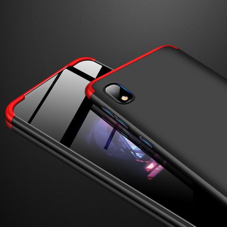 Ультратонкий стильный чехол на   Самсунг Гелекси  A70-черный, красный