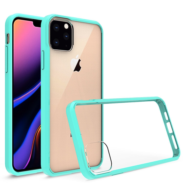 Зеленый прозрачный чехол накладка на Айфон 11 Про Макс