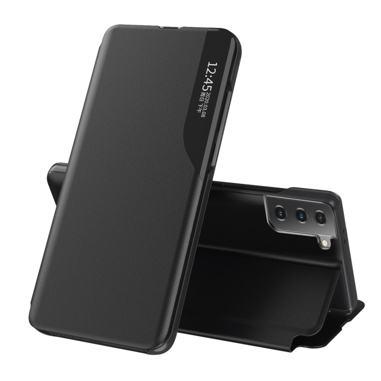Чехол-книжка Clear View Standing Cover на Samsung Galaxy S21 FE - черный