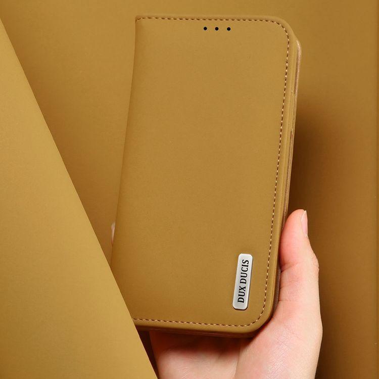 Кожаный чехол книжка цвета хаки для Самсунг Гелекси С10 Плюс