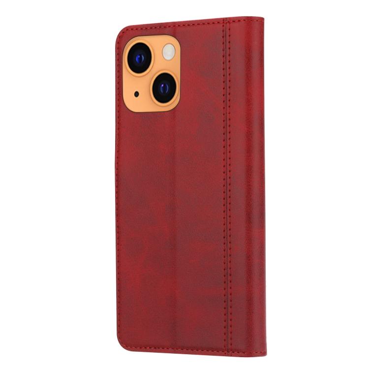 Чехол-книжка на Айфон 13 mini - красный