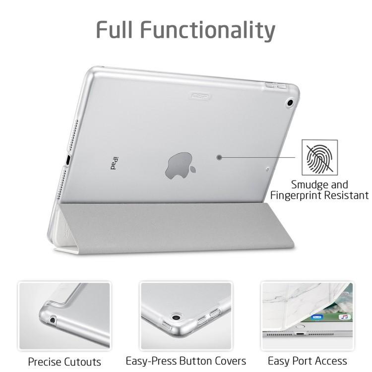 Чехол-книжка ESR Marble Series Three-folding Magnetic на Айпад 9.7 - белый мрамор