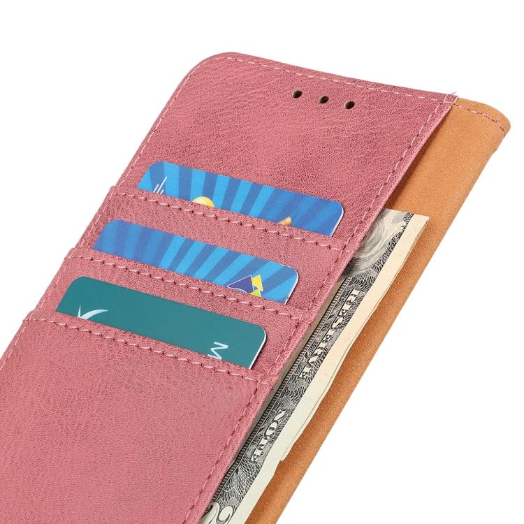 Чехол-книжка с слотами под кредитки для Айфон 12 розового цвета
