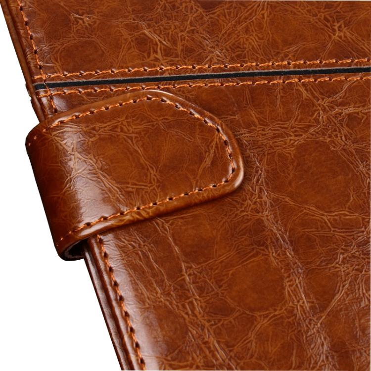 Кожаный коричневый чехол-книжка с магнитной защелкой для Сяоми Редми 9Т