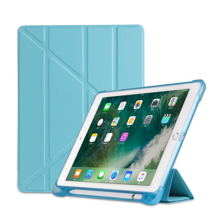 Чехол- книжка Multi-folding для iPad 9.7 (2018) / 9.7 (2017) / air / air2 - голубой