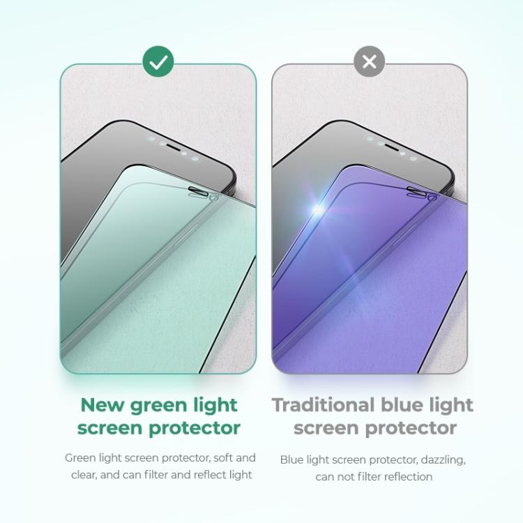 Защитное стекло JOYROOM Knight Series 9H 3D Full Screen для Айфон 12 Pro Max - зеленое
