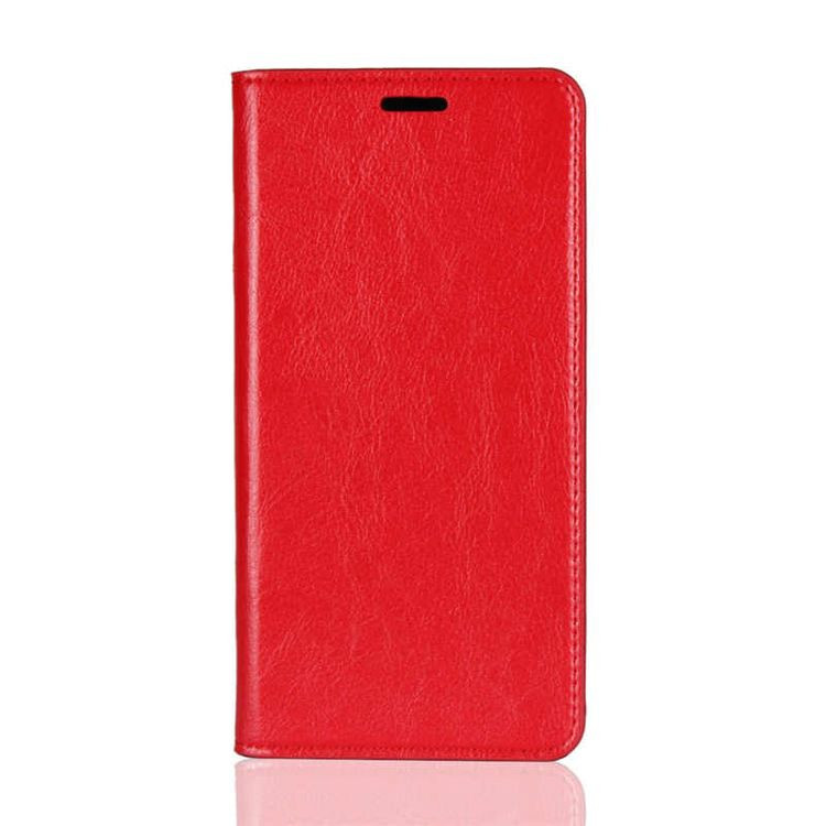 Чехол- книжка из натуральной кожи  EsCase на Samsung Galaxy S10+ / S10 Plus-красный