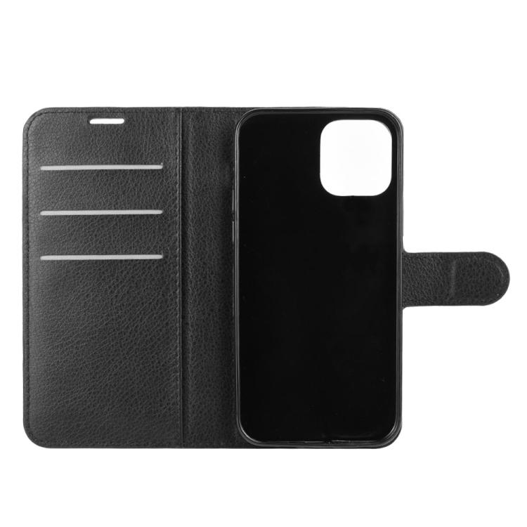 Черный чехол-книжка с слотами под кредитки для Айфон 12