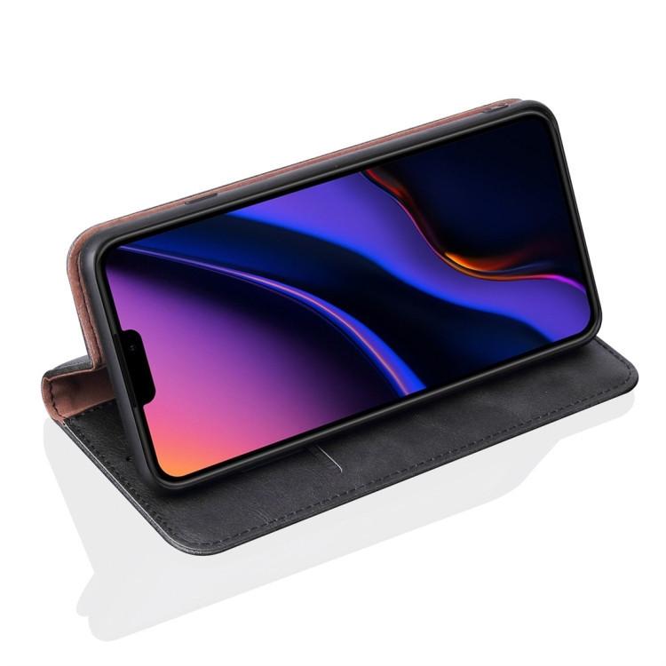 Кожаный чехол -книжка  для Айфон 11 Pro- черный