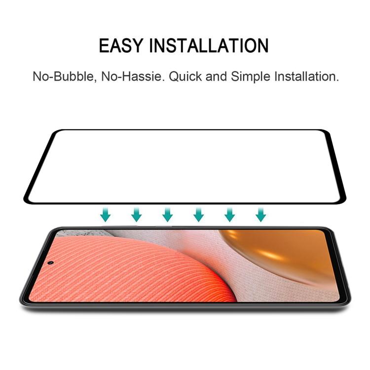 Защитное стекло 3D Full Glue на Самсунг Гелакси А72