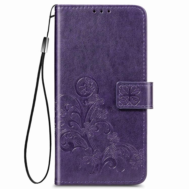 Фиолетовый чехол-книжка Embossed на Samsung Galaxy A12/M12