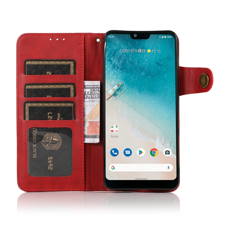 Чехол-книжка KHAZNEH Dual-Splicing для Ксяоми Ми 11 Лайт 4G / 5G - красный