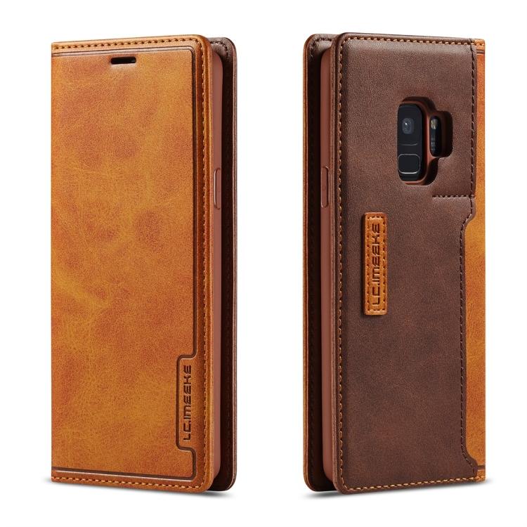 Чехол-книжка коричневого цвета для Самсунг Гелекси С9