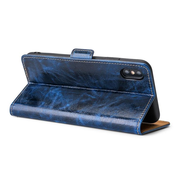 Защитный синий чехол-книжка с складной подставкой на Сяоми Редми 9А