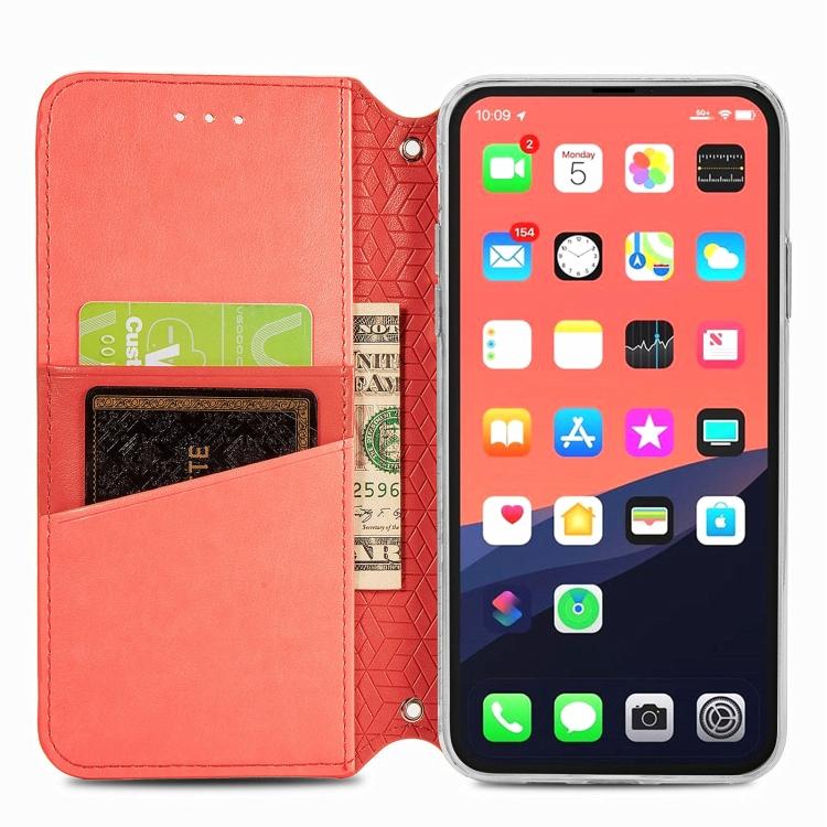 Чехол-книжка для Айфон 13 Про - красный