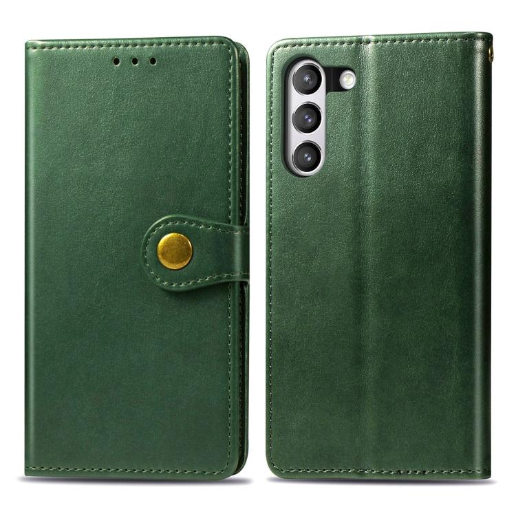 Чехол- книжка Retro Solid Color на Samsung Galaxy S21 FE  - зеленый