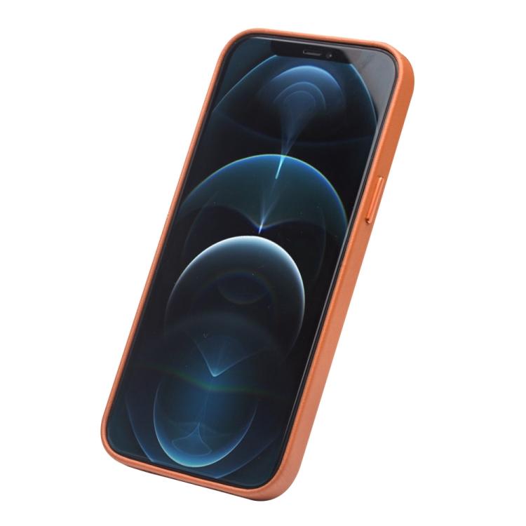 Кожаный чехол QIALINO Cowhide Leather Case для iPhone 12 Pro Max - коричневый