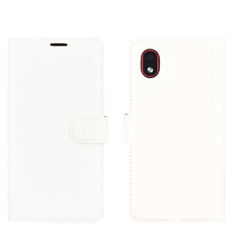 Чехол-книжка Litchi Texture на Samsung Galaxy A01 Core / M01 Core - белый
