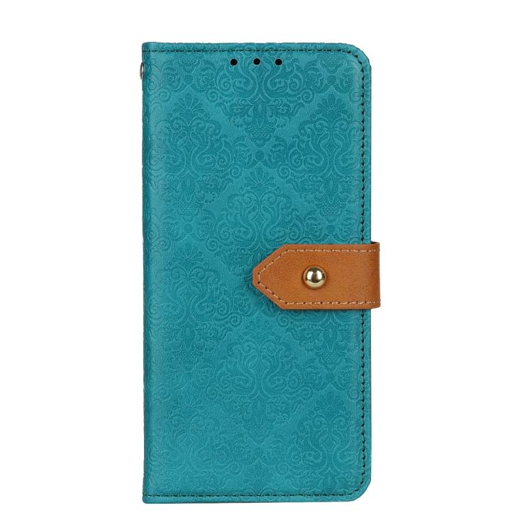 Чехол-книжка European Floral на Xiaomi Poco M3 Pro/Redmi Note 10 5G - синий