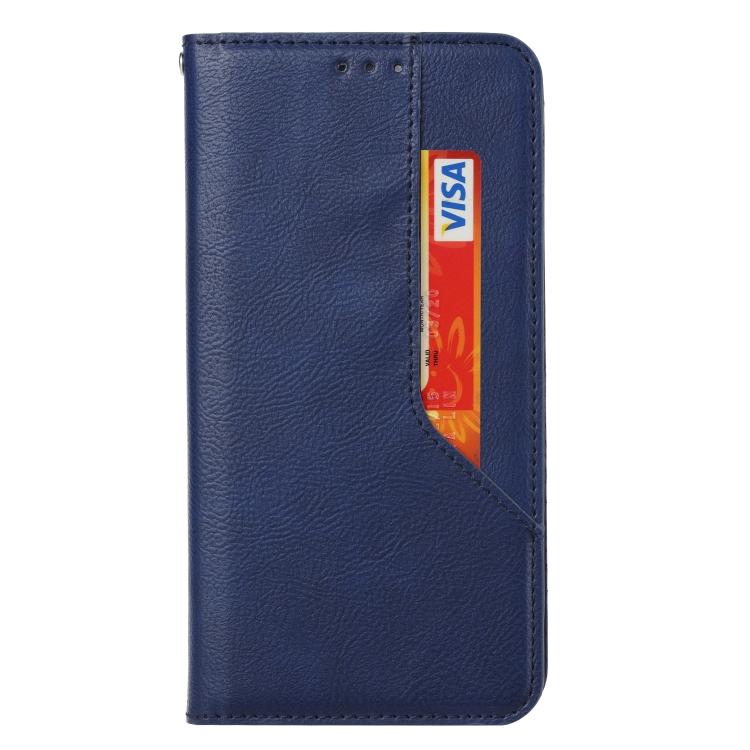Чехол-книжка HMC Magnetic для Xiaomi Redmi Note 10 - синий