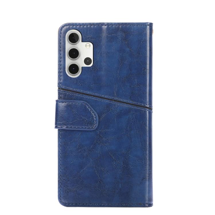 Синий чехол-книжка с карманами для карт на Самсунг Галакси A32