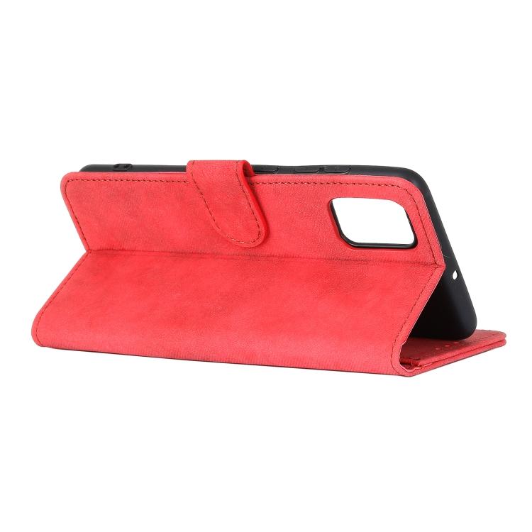 Чехол-книжка с складной подставкой красного цвета для Самсунг Гелекси А52