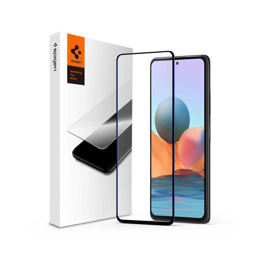 Каленое стекло SPIGEN GLASS FC для Xiaomi Redmi Note 10/10s - Black